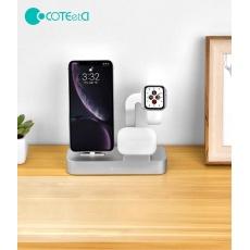 COTEetCI nabíjecí stanice Base29 3v1 pro Apple iPhone & Watch & AirPods/Pro šedá