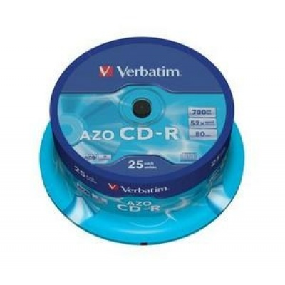 VERBATIM CD-R(25-Pack)Spindle/Crystal/DLP/52x/700MB