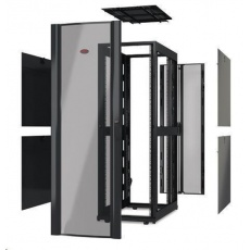 APC NetShelter SX 48U 600mm Wide x 1200mm Deep Enclosure Without Sides Without Doors, Black