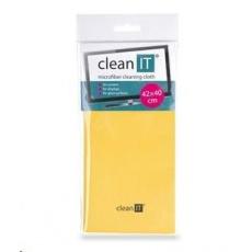CLEAN IT Čistící utěrka z mikrovlákna, velká 42x40 cm žlutá