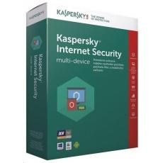 Kaspersky Internet Security CZ multi-device, 2 zařízení, 1 rok, obnovení licence, elektronicky