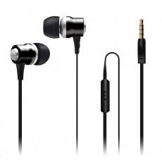 CONNECT IT Alu Sonics sluchátka do uší EP-222-BK s mikrofonem, černá