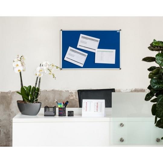 Textilní  nástěnka AVELI 45x60, hliníkový rám