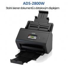 BROTHER skener ADS-2800W DUALSKEN (až 30 str/min, 600 x 600 dpi, LCD,512MB) WiFi+LAN duplex