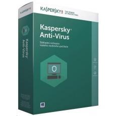 Kaspersky Anti-Virus CZ, 3PC, 1 rok, obnovení licence, elektronicky