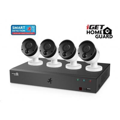 iGET HOMEGUARD HGDVK84404 Kam. systém se SMART detekcí pohybu, 8-kanálový FullHD 1080p rekordér DVR+4x HGPRO838, rozbal.