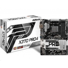 ASRock MB Sc AM4 X370 PRO4, AMD X370, 4xDDR4, VGA