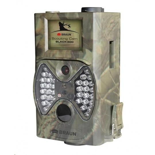 "BRAUN fotopast ScoutingCam Black 300 (5Mpx, SD, 2"" LCD, 36 Black IR LED do 20m)"