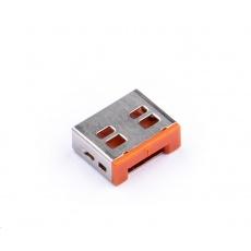 SMARTKEEPER Basic USB Port Lock 6 - 1x klíč + 6x záslepka, oranžová