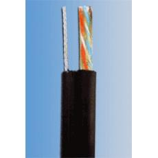 UTP kabel PlanetElite s nosným lankem, Cat5E, drát, venkovní PE, černý, 305m