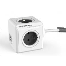 Allocacoc PowerCube Extended USB white/grey (3m)