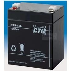 Baterie - CTM CT 12-5L (12V/5Ah - Faston 250), životnost 5let