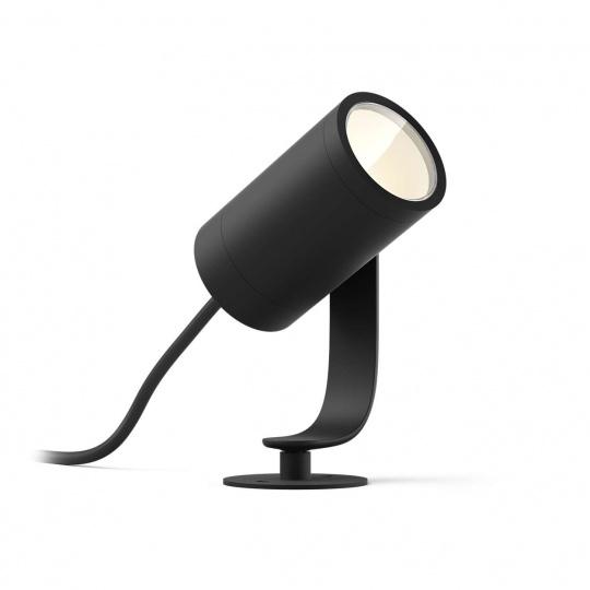 PHILIPS Lily Venkovní bodové světlo, Hue White and color ambiance, 230V, 1x8W integr.LED, Chrom matný, rozšíření