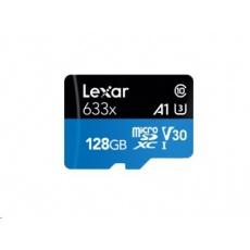 Lexar microSDXC UHS-I HS 128GB 633x + adaptér