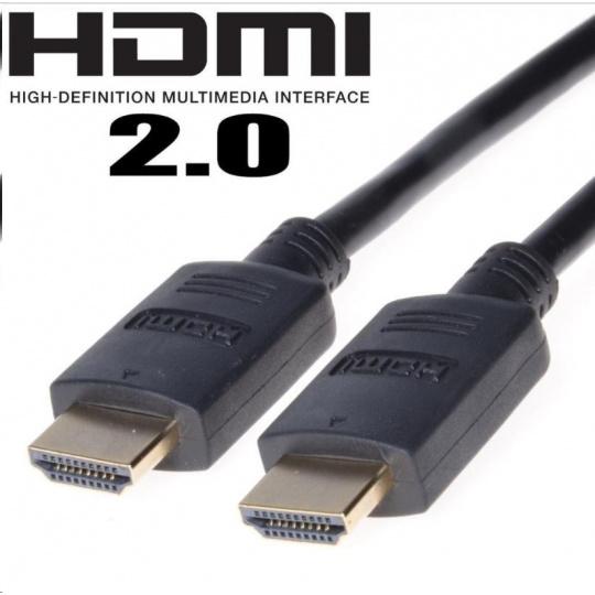 PREMIUMCORD Kabel HDMI 2.0 High Speed + Ethernet, zlacené konektory, 15m
