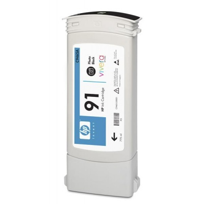 HP 91 Black photografic DJ Ink Cart, 775 ml, C9465A