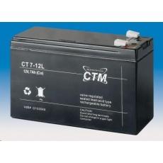 Baterie - CTM CT 12-7L (12V/7Ah - Faston 250), životnost 5let