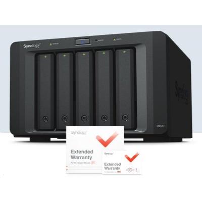 Synology DX517 rozšiřující jednotka k DiskStation (5xSATA) + záruka 5 let