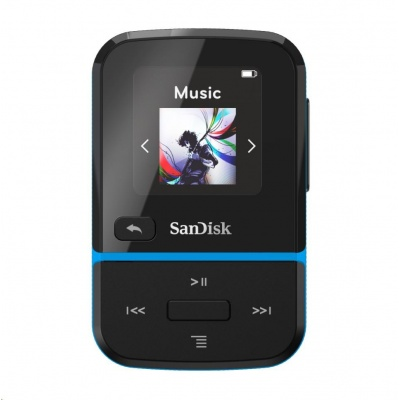 SanDisk Clip Sport Go MP3 Player 32 GB, Blue
