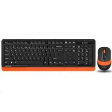 A4tech FG1010 FSTYLER set bezdr. klávesnice + myši, oranžová barva