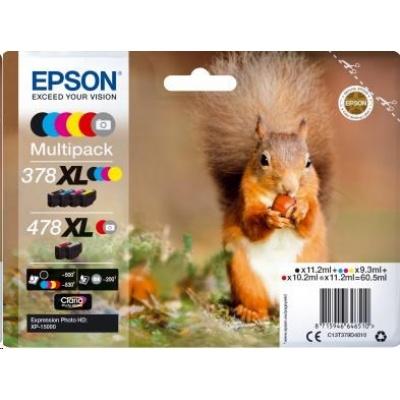 "EPSON Multipack ""Veverka"" 6-colours 478XL Claria Photo HD Ink"