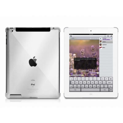 Puro zadní kryt Crystal pro iPad 2/New iPad, průsvitná
