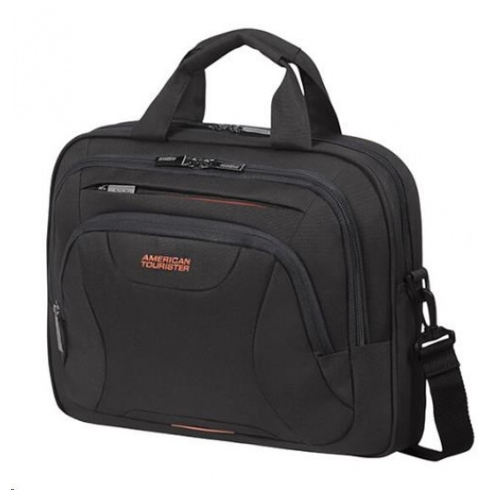 "Samsonite American Tourister AT WORK lapt. bag 15,6"" Black/orange"