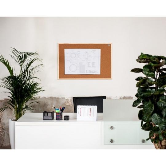 Korková nástěnka AVELI 90x120, dřevěný rám