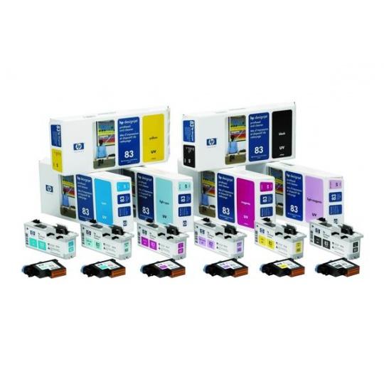 HP 83 Magenta UV Printhead + Printhead Cleaner, C4962A