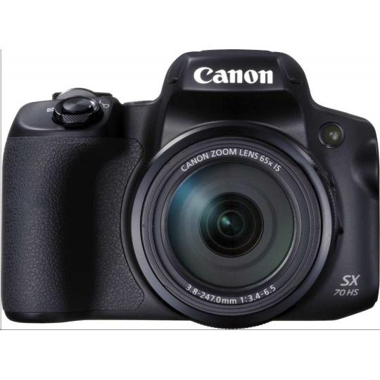 Canon PowerShot SX70 HS, 20.3Mpix, 65x zoom, WiFi, 4K video - černý