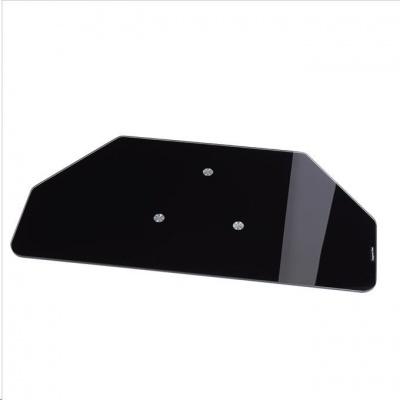 Hama otočný stojan pre TV, sklenený, čierny