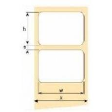 OEM samolepící etikety 50mm x 15mm, bílý PE, cena za 2000 ks