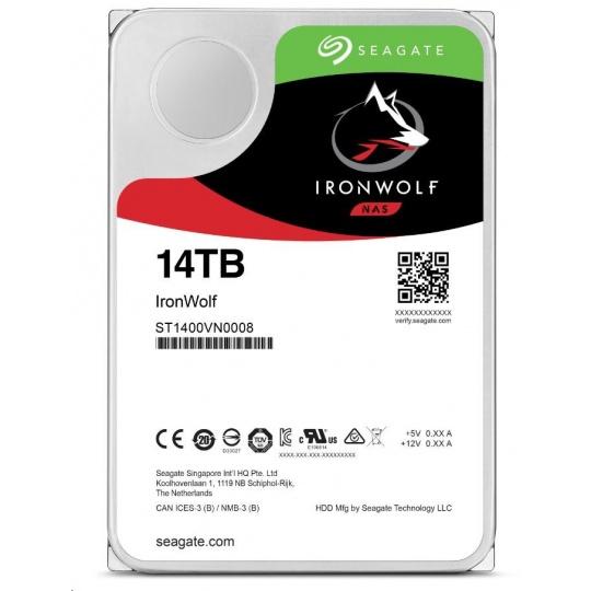 "SEAGATE HDD IRONWOLF (NAS) 3,5"" - 14TB, SATAIII, ST14000VN0008"