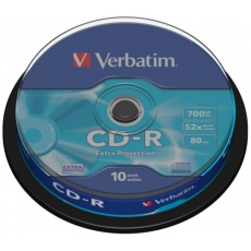 VERBATIM CD-R(10-Pack)Spindle/EP/DL/52x/700MB