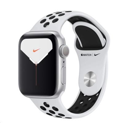 Apple Watch Nike Series 5 GPS, 40mm Silver Aluminium Case with Pure Platinum/Black Nike Sport Band/rozbaleno