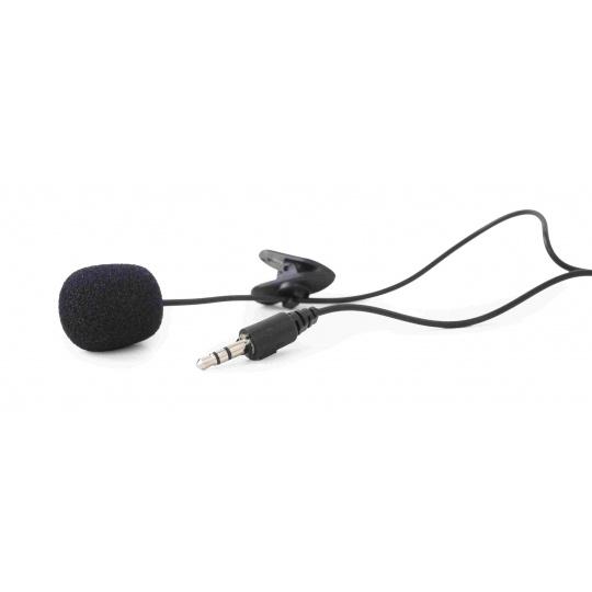 GEMBIRD mikrofon s klipsnou, MIC-C-01, černý