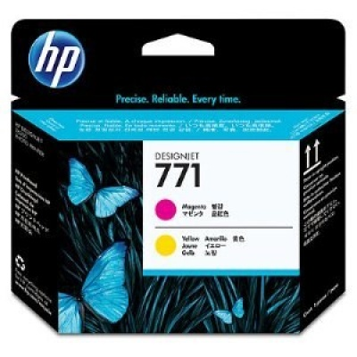 HP 771 Magenta + Yellow DJ Printhead, CE018A