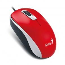 GENIUS myš DX-110, drátová, 1000 dpi, USB, červená