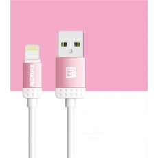 REMAX datový kabel 1m dlouhý, řada Lovely, micro USB, barva růžová