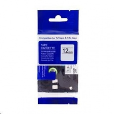 PRINTLINE kompatibilní páska s Brother TZE-335, TZ-335, 12mm x 8m, bílý tisk / černý podklad