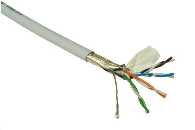 FTP kabel PlanetElite, Cat5E, licna, PVC, šedý, 305m