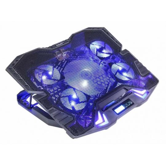 EVOLVEO Ania 5, chladicí podstavec pro notebook, modré podsvícení