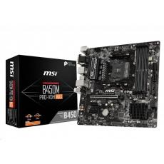 MSI MB Sc AM4 B450M PRO-VDH MAX, AMD B450, 4xDDR4, VGA, mATX