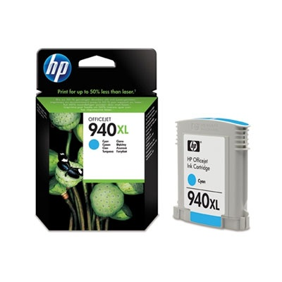HP 940XL Cyan Ink Cart, 16 ml, C4907AE