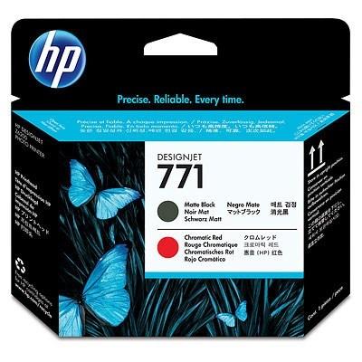 HP 771 Black matte + Red chromatic DJ Printhead, CE017A