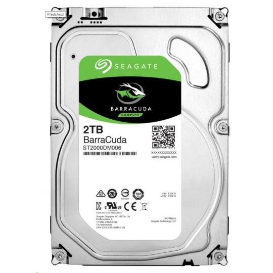 "SEAGATE HDD BARRACUDA 3,5"" - 2TB, SATAIII, 7200rpm, 256MB cache - záruka 3 roky"