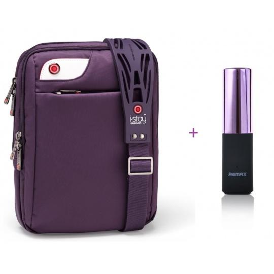 i-stay netbook/ipad bag Purple + PowerBank 2400 mAh lipstick