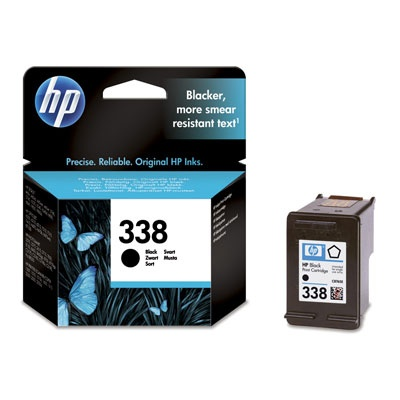 HP 338 Black Ink Cart, 11 ml, C8765EE