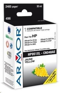 ARMOR cartridge pro HP OJ 8100/8600, Yellow (CN048AE)
