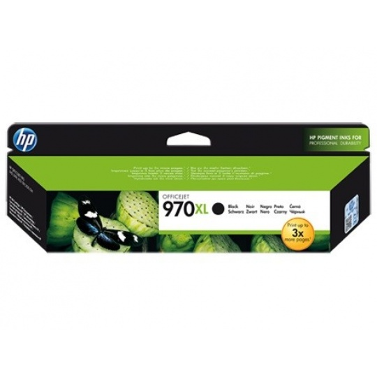 HP 970XL Black Ink Cart, 9 200 stran, CN625AE